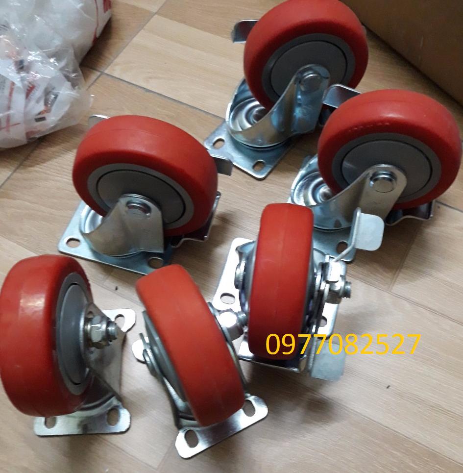 Thanh lý 6 bánh xe PU 100x32