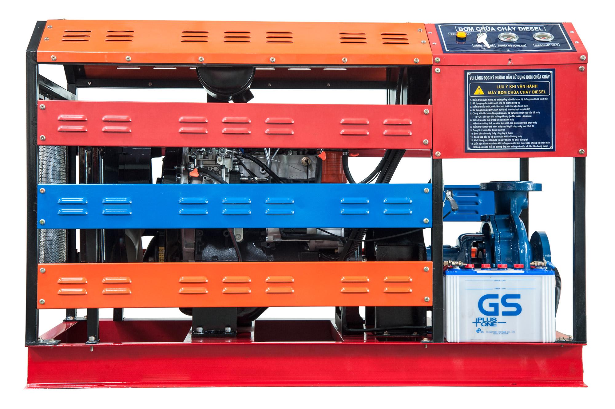 Máy bơm chữa cháy Diesel 100HP D4BH nhặp khẩu mới 100%