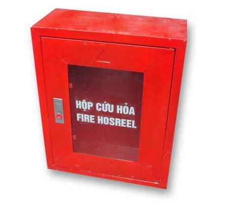 Tủ chữa cháy trong nhà 400x600x220 loại thường, Thép dày 0.6mm- Việt Nam, có sẵn