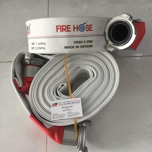 Vòi chữa cháy D50, 10 bar, 20m kèm khớp nối GOS0T, Tomoken-