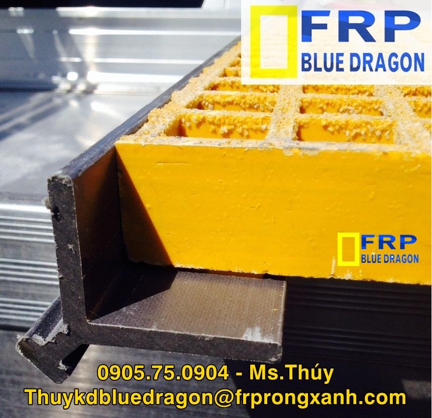 Tấm sàn lưới sợi thủy tinh frp grating, chống cháy, cách điện, chống hóa chất 0905750904