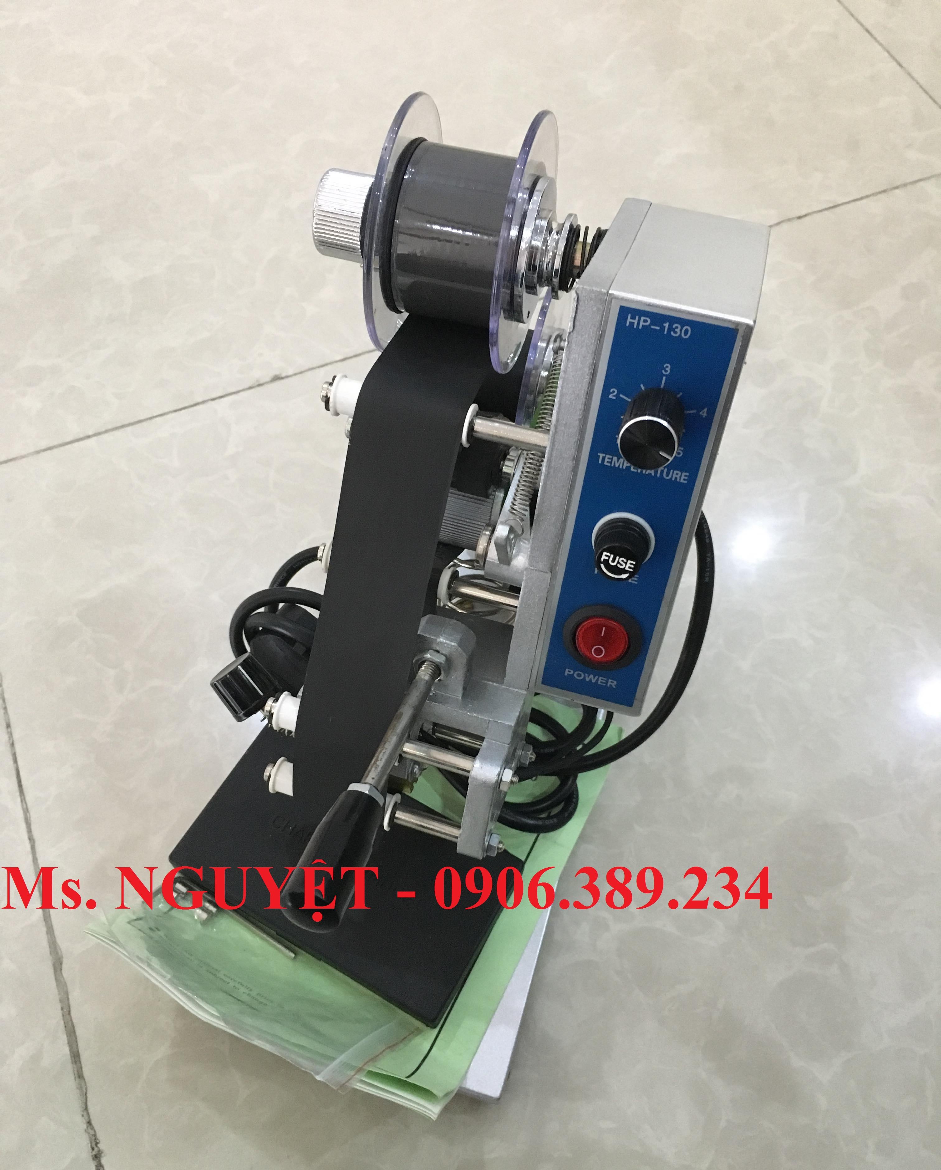 Máy đóng DATE, máy đóng ngày sản xuất hạn sử dụng trên bao bì HP130