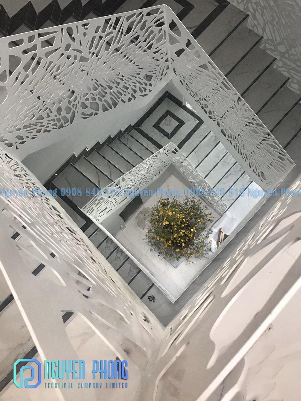 10 mẫu lan can cầu thang sắt CNC - Nguyên Phong