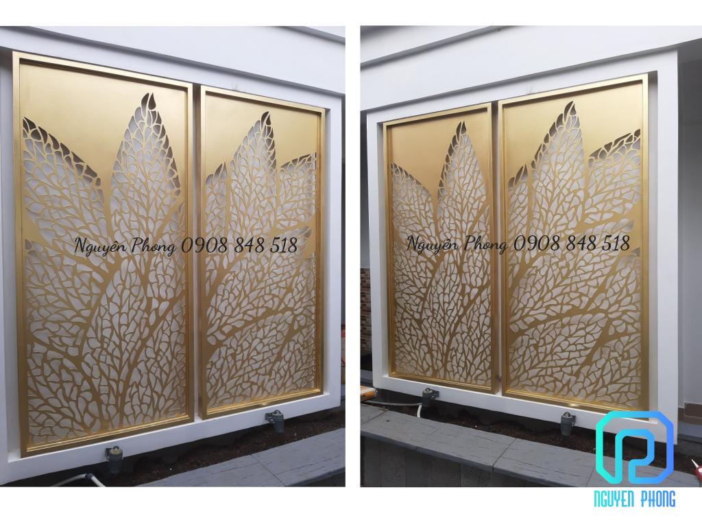 10+ mẫu vách ngăn sắt CNC hoa văn thiết kế sơn tĩnh điện, sơn epoxy bề mặt mịn đẹp