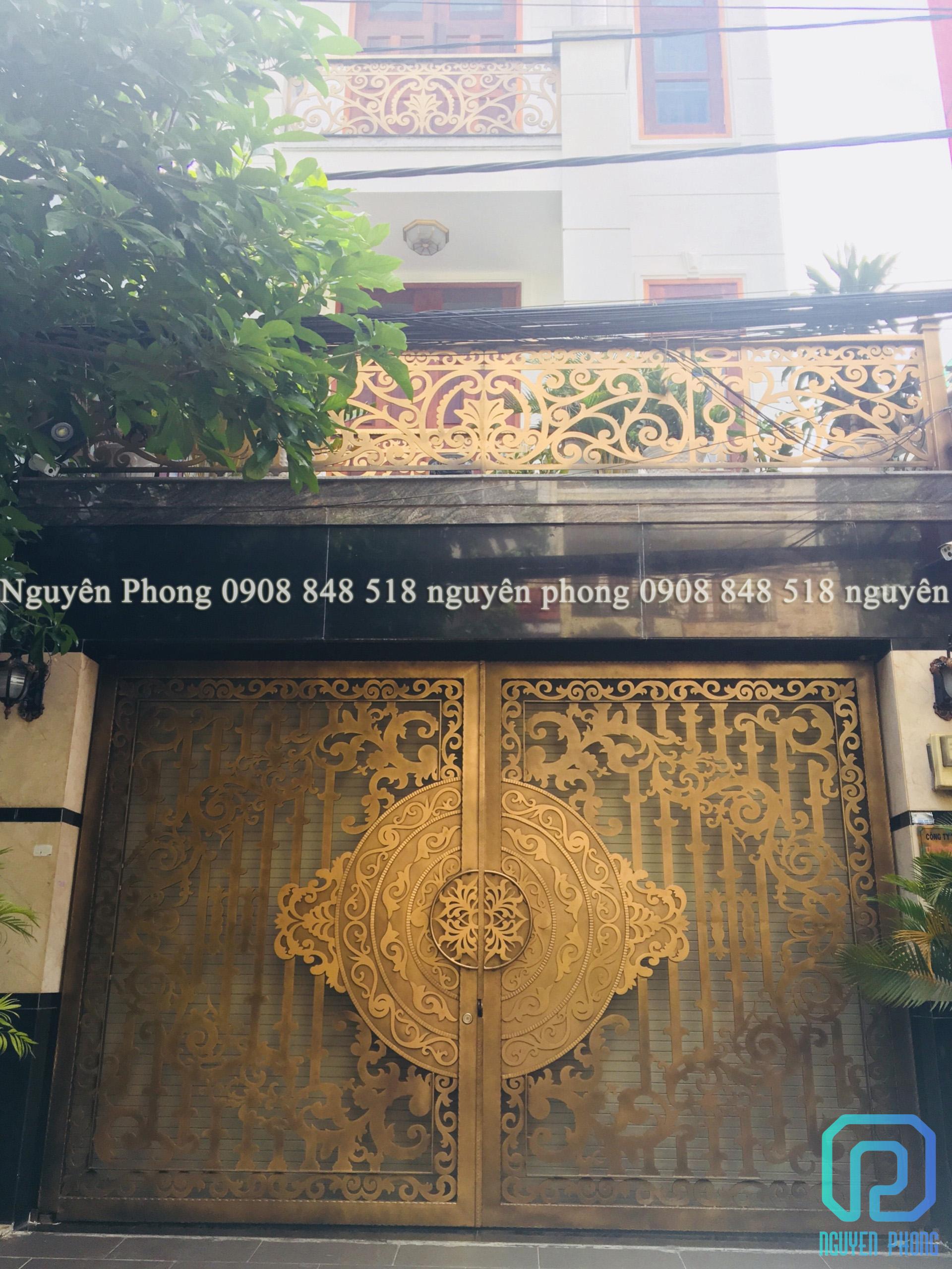 Biệt thự, villa sang trọng không thể thiếu cổng sắt mỹ thuật đẹp 2021
