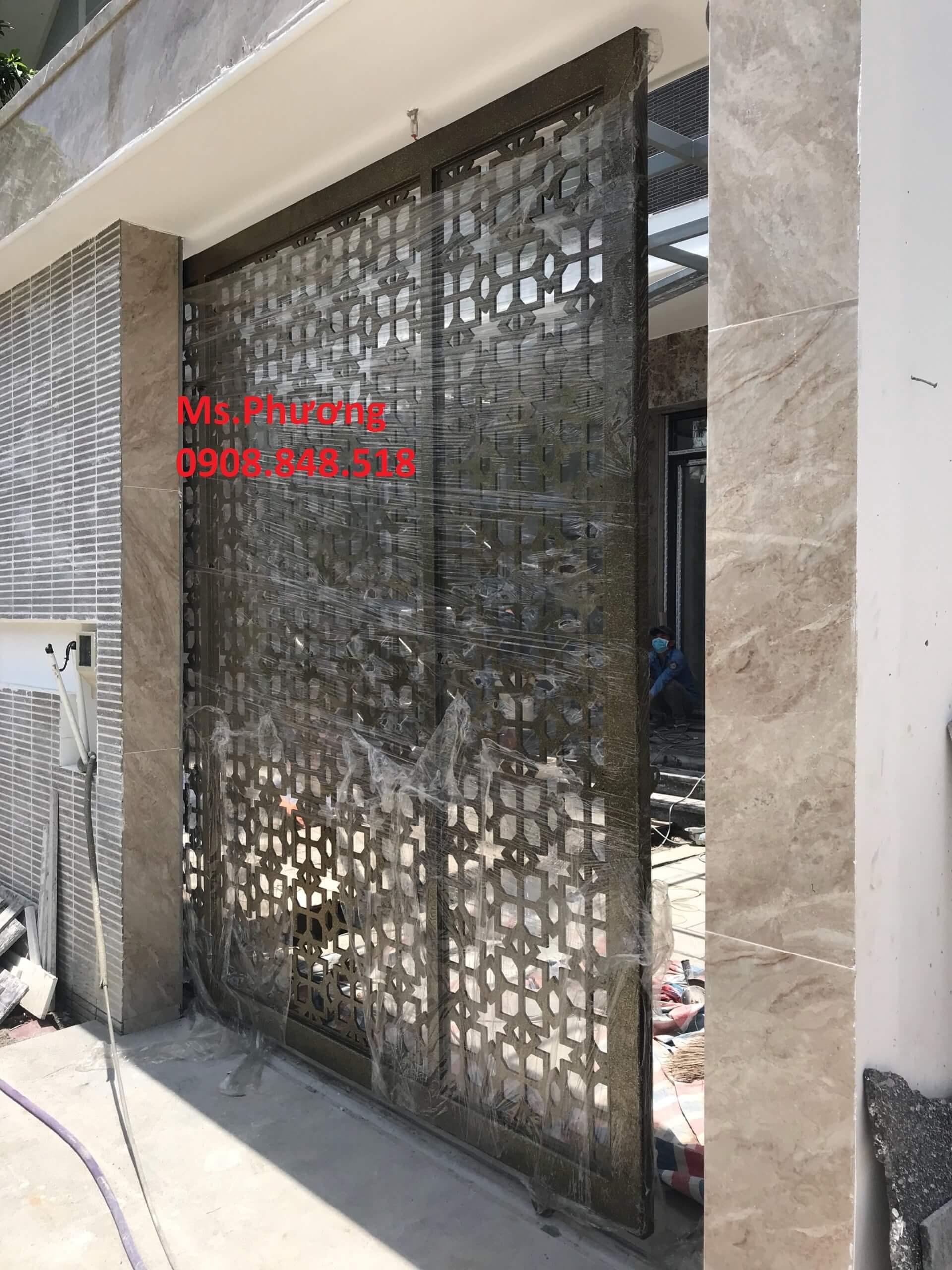 Cổng sắt mỹ thuật 2 cánh, 4 cánh, cổng trượt, cổng lùa cho nhà đẹp 2021