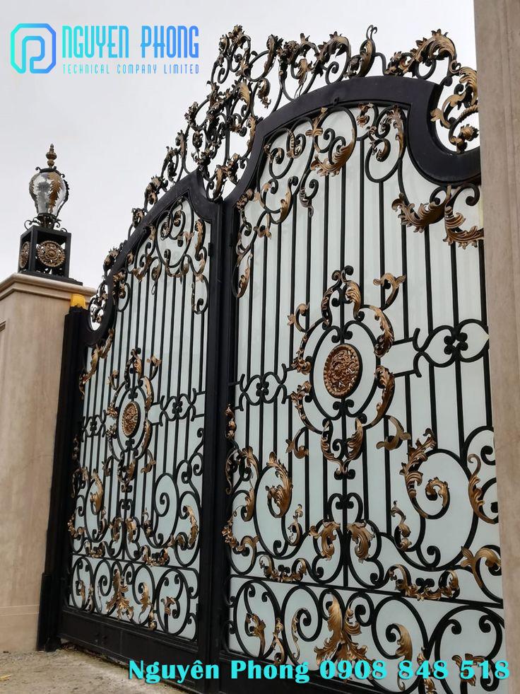 Cung cấp, gia công cổng sắt uốn, cổng hoa văn nghệ thuật cho nhà phố, biệt thự đẹp