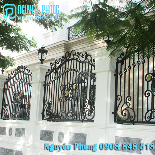 Cung cấp mẫu, báo giá hàng rào sắt mỹ thuật đẹp HCM, Bình Dương, Bình Phước