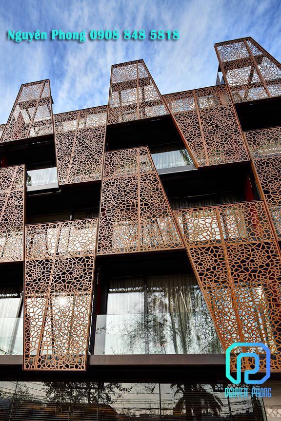Mặt dựng sắt CNC trang trị ngoại thất công trình - xu hướng kiến trúc mới 2020