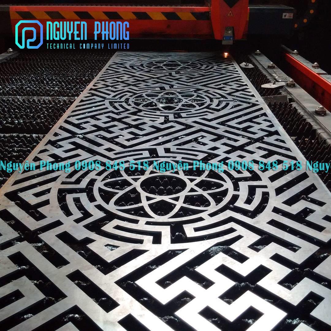 Nhận gia công sắt cắt CNC sắt, nhôm, inox hoa văn trang trí chính xác, đường cắt đẹp, giá tốt nhất