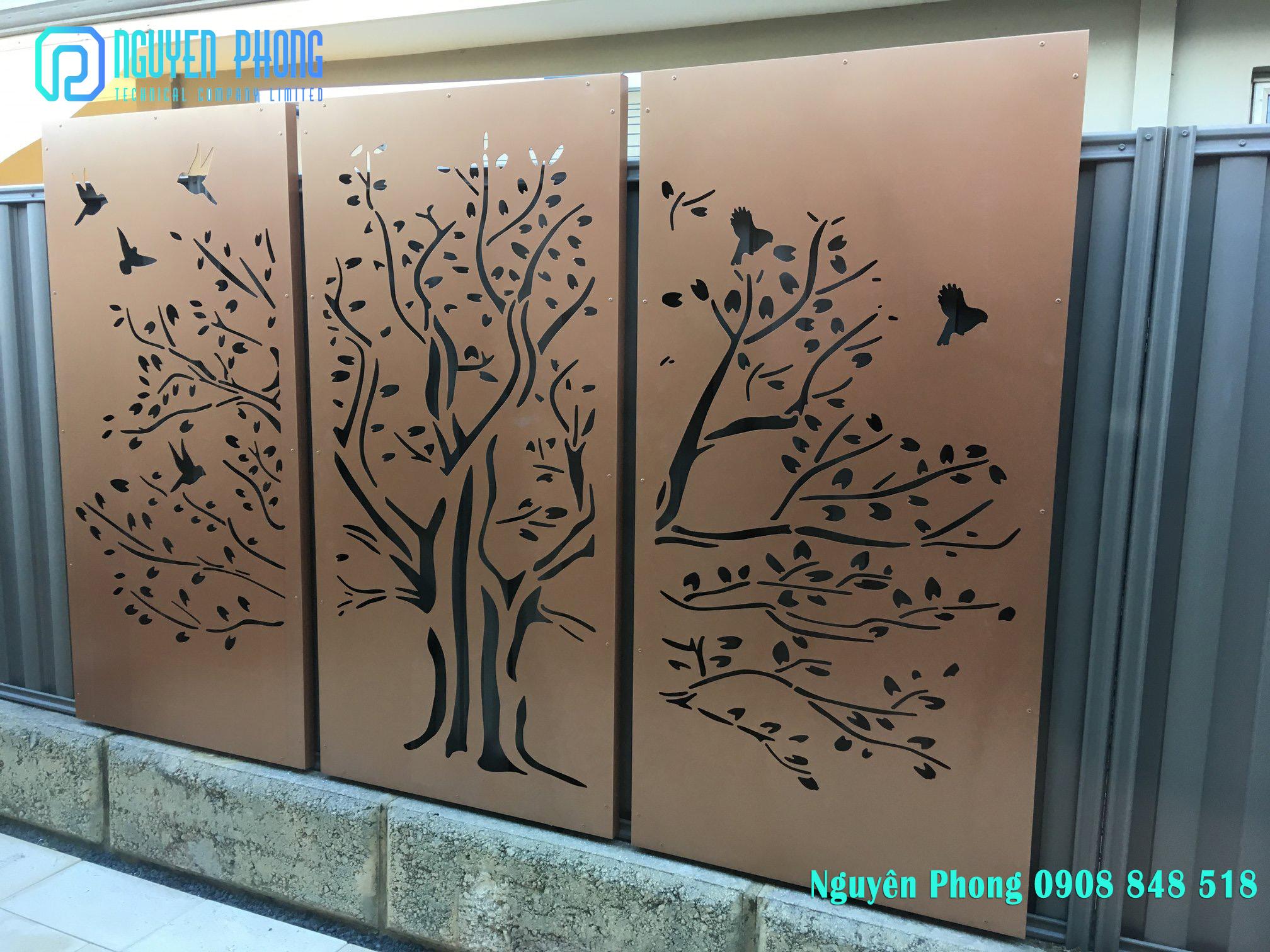 Tấm Panel trang trí cắt CNC sang trọng cho ngôi nhà bạn