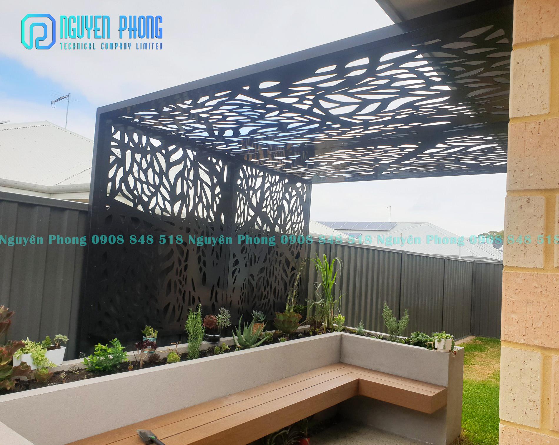 Tấm Panel trang trí, mái đón sắt cắt CNC - xu hướng kiến trúc đẹp 2021