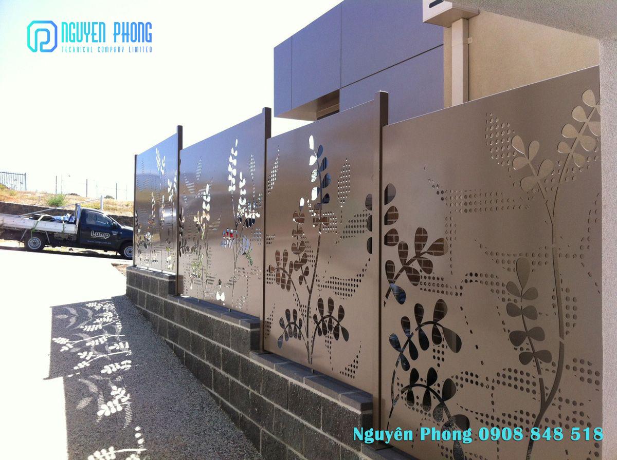 Thiết kế, gia công mẫu hàng rào sắt nghệ thuật cho biệt thự, nhà phố