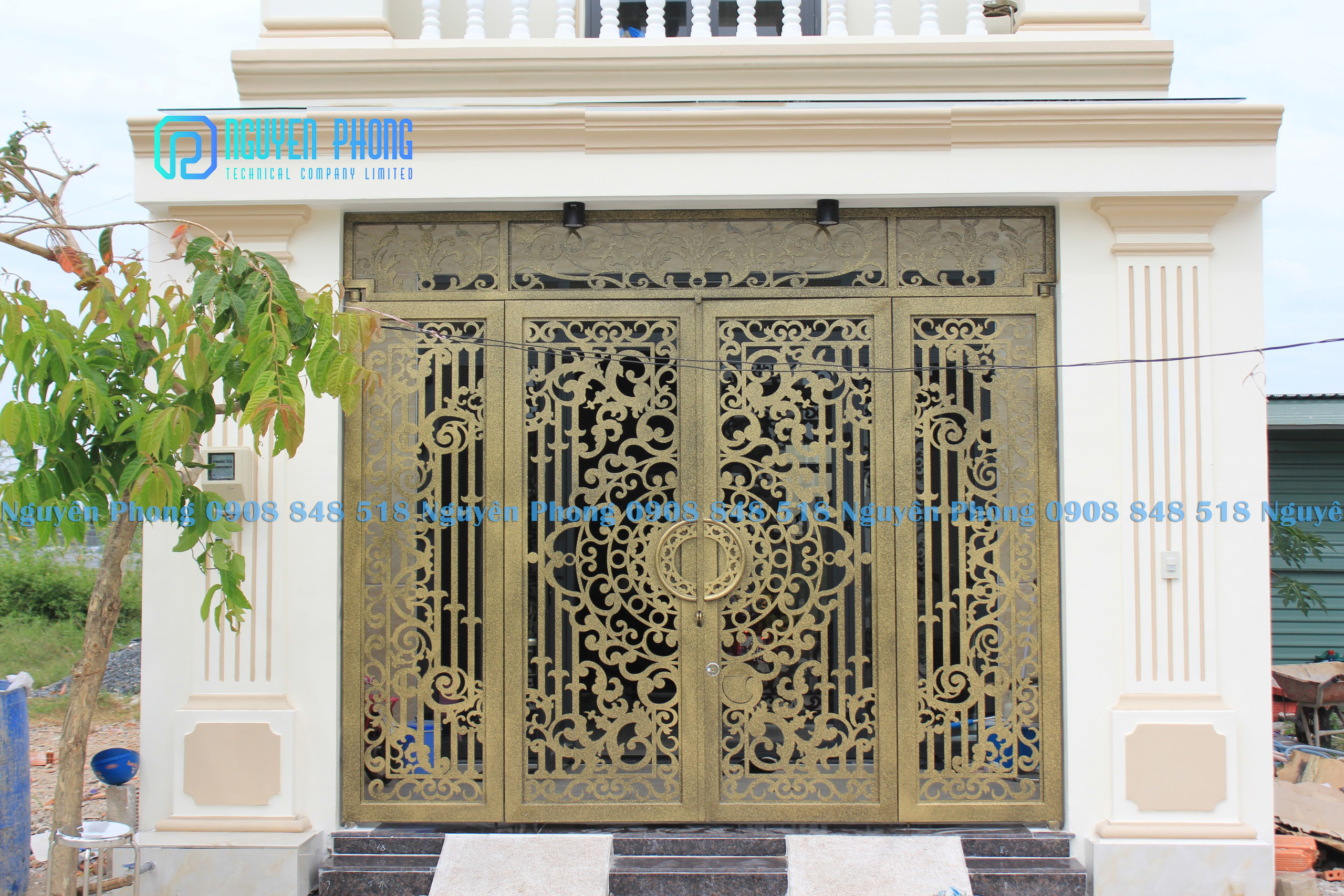 Thiết kế, gia công, thi công cửa cổng sắt mỹ thuật đẹp, cổng cnc giá tốt