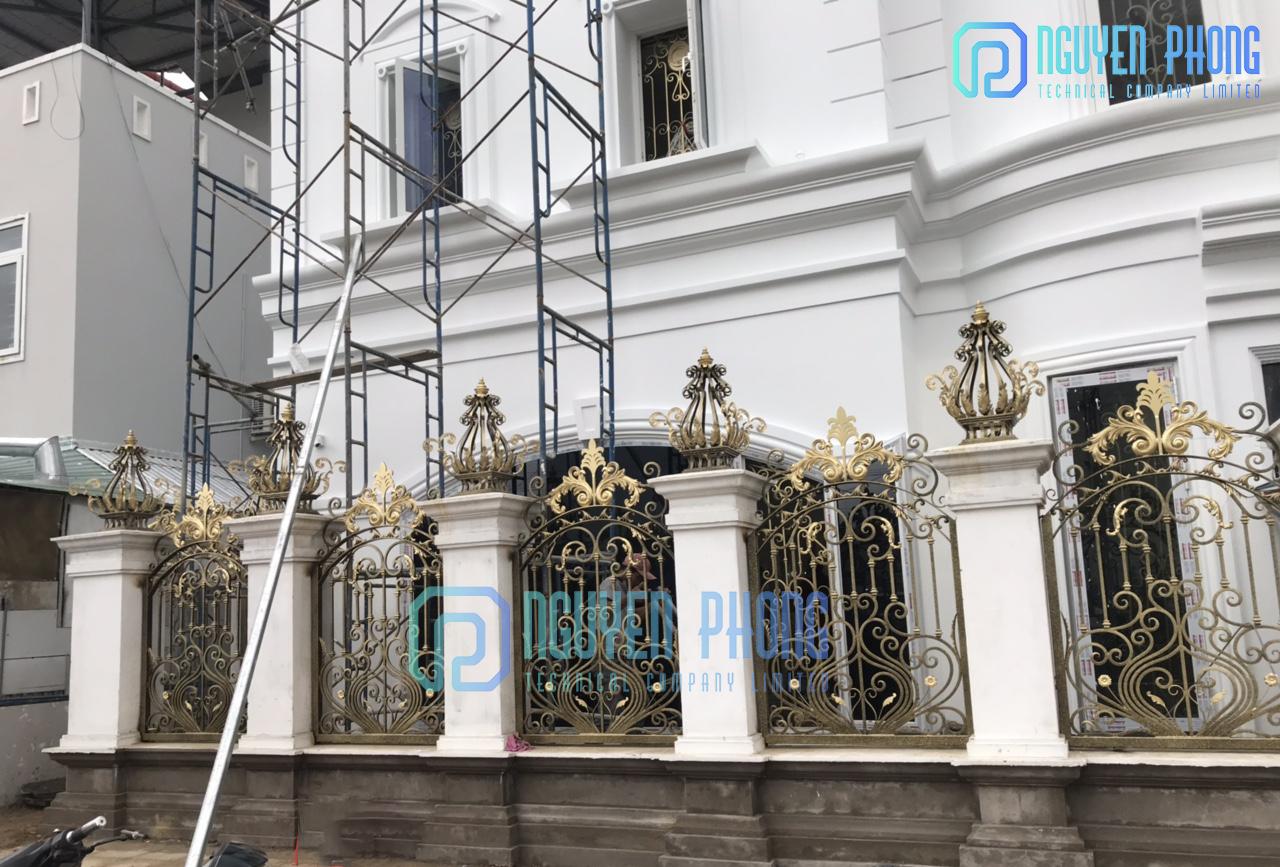 Thiết kế, gia công, thi công mẫu hàng rào sắt cắt CNC cho biệt thự, villa, resort