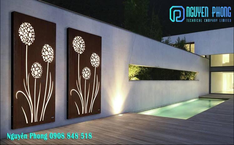 Tranh kim loại cắt CNC trang trí nội thất độc đáo, tinh tế trang trí nội thất 2020