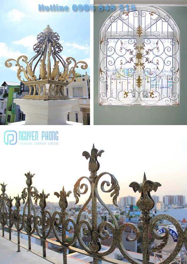 Trọn bộ sắt mỹ thuật từ cổng, lan can, cầu thang đến hàng rào cho biệt thự, nhà phố