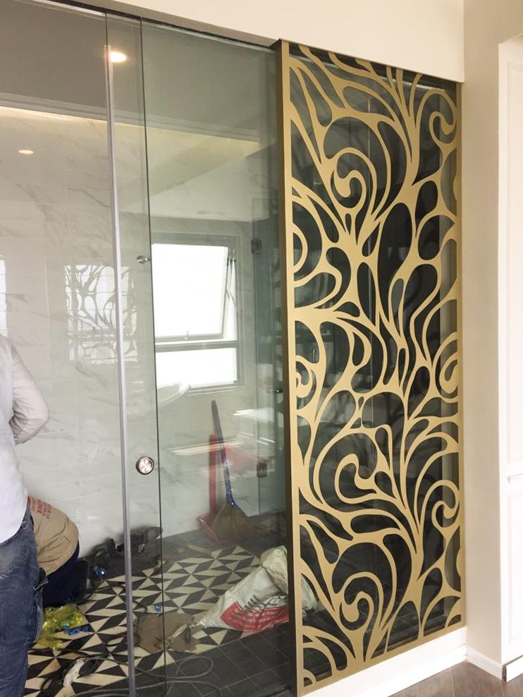 Ứng dụng trang trí nội thất, nhà cửa với vách ngăn kim loại cắt CNC nghệ thuật sơn tĩnh điện, sơn epoxy cao cấp 2020