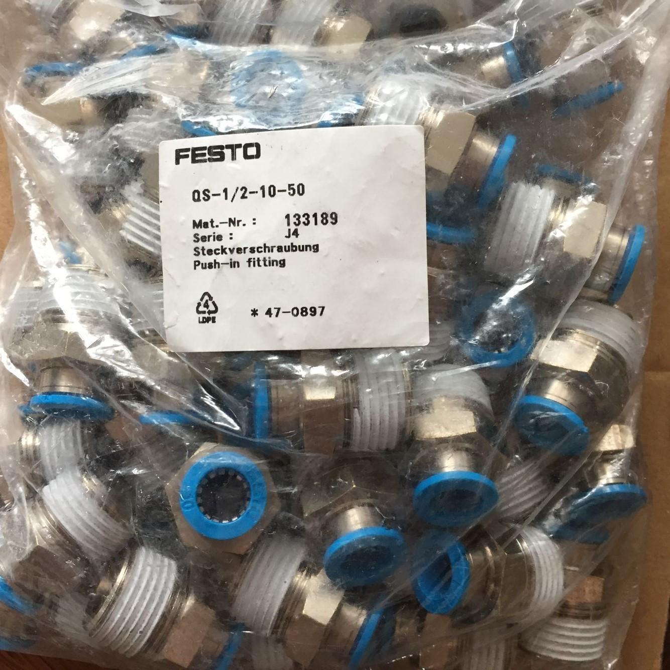 Đầu nối FESTO QS-1/2-10-50 133189