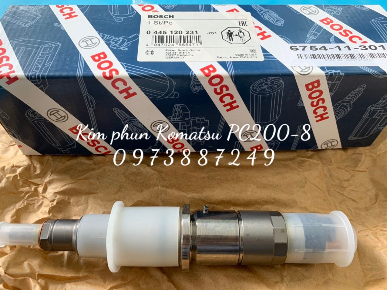 Bán kim phun Komatsu PC200-8, SAA6D107 giá tốt nhất