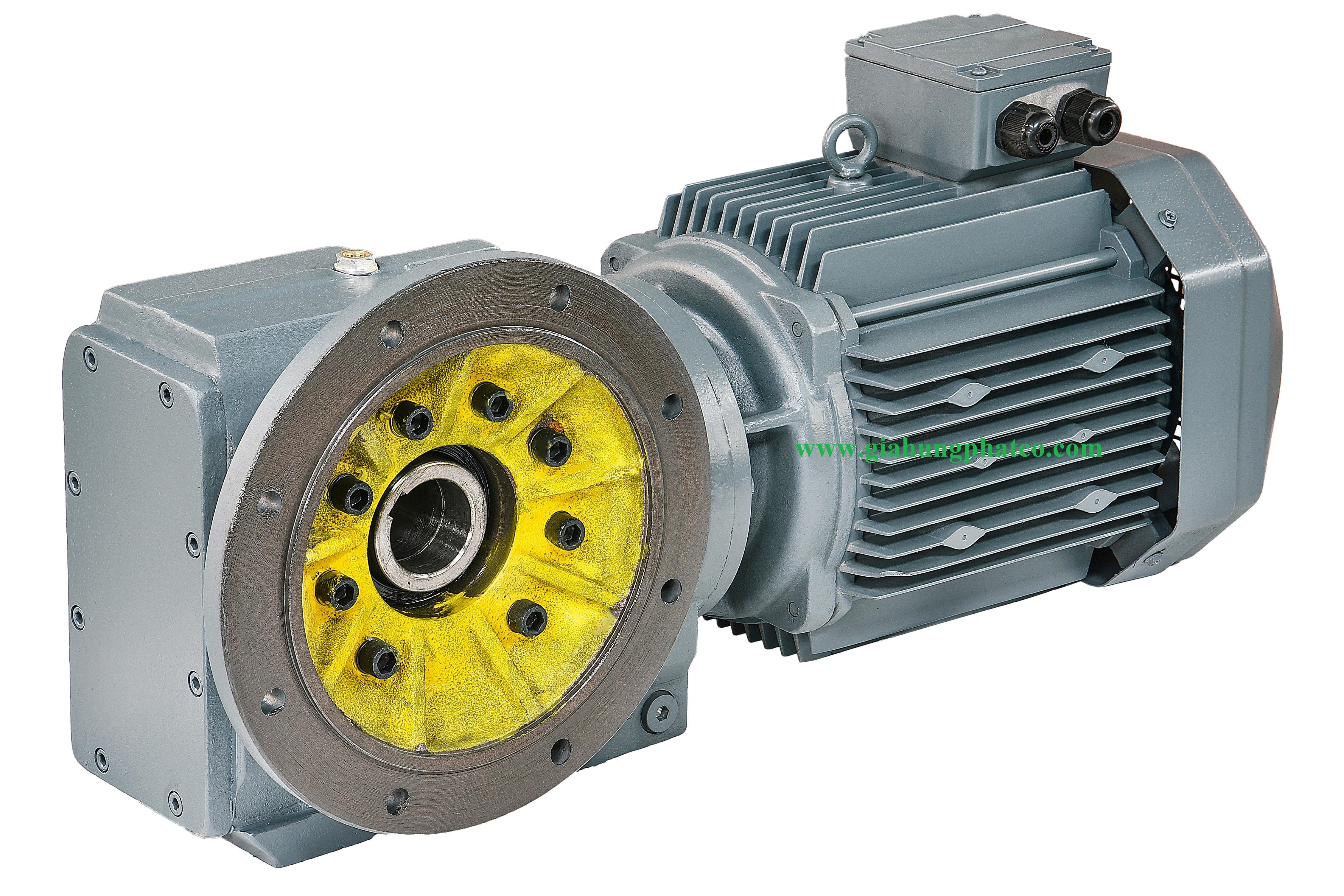 Motor giảm tốc trục vuông góc cốt âm