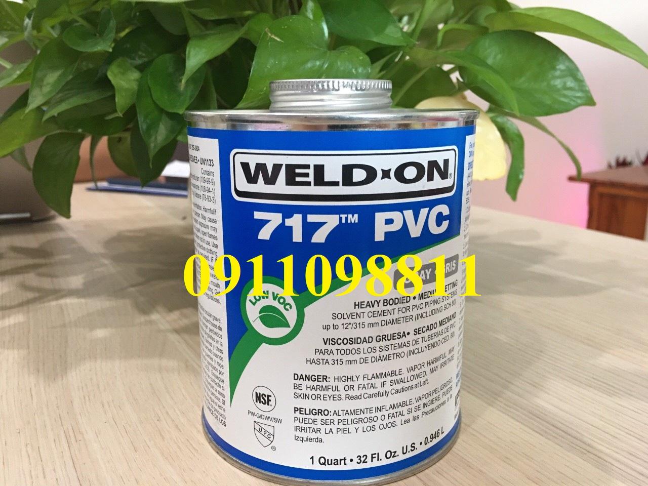 KEO DÁN ỐNG UPVC WELDON 717