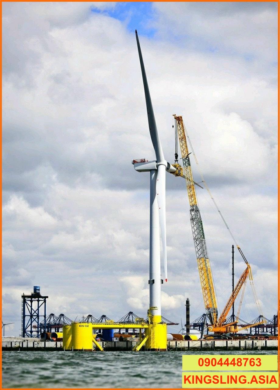 Cáp cẩu lắp đặt điện gió