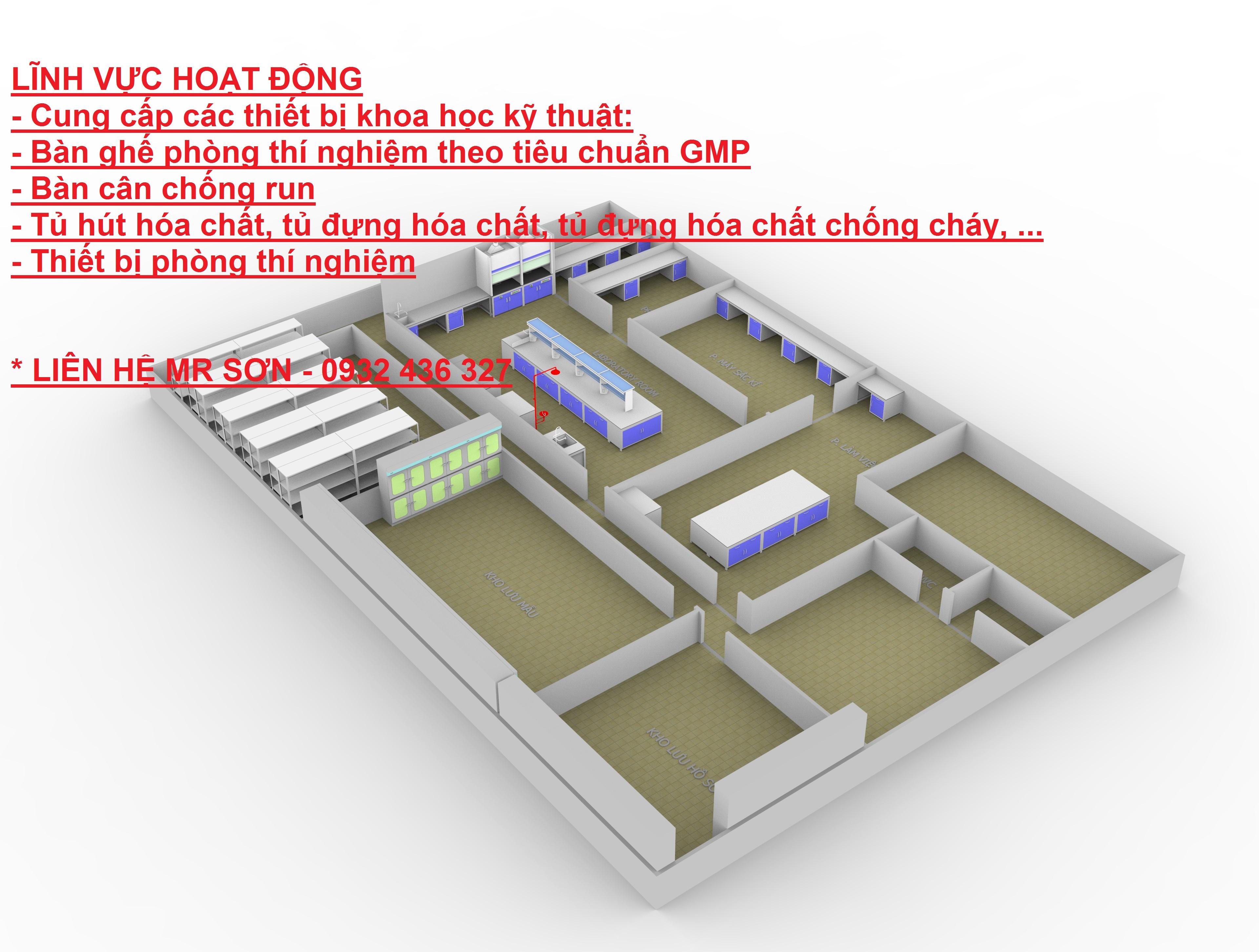 Thiết kế cung cấp nội thất phòng thí nghiệm MIỄN PHÍ duy nhất tại Việt Nam