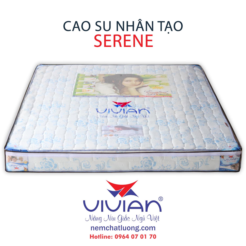 Nệm cao su nhân tạo vivian serene 1m6x2mx10cm chính hãng