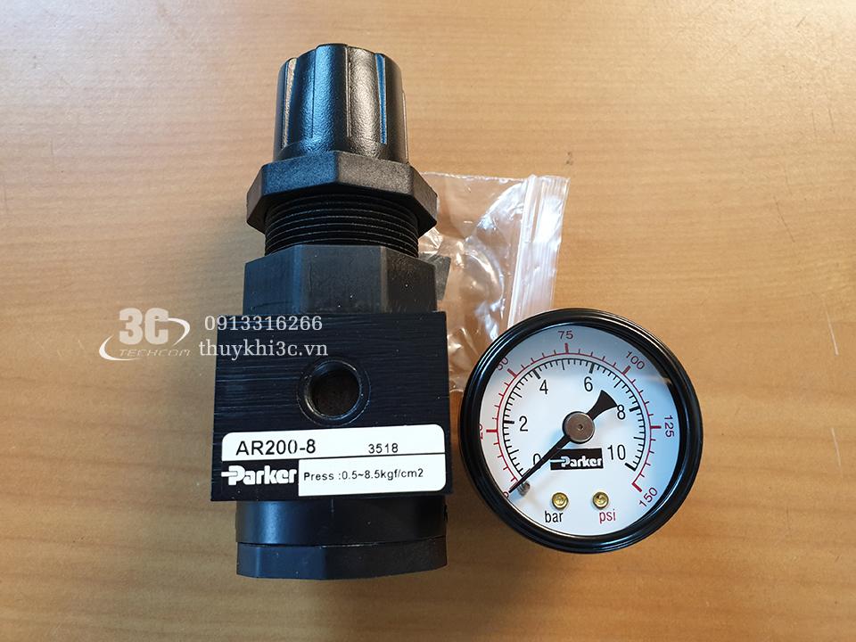 Bộ điều áp khí nén Parker AR200-8, AR320-8, AR320-10, AR420-15