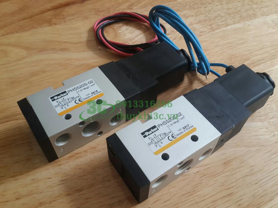 Van điện từ khí nén Parker PHS510S-6, PHS520S-02, PHS530S-03, PHS540S-10, PHS540S-15