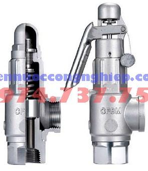 Van an toàn mặt bích DIN, SUS304, đầu vào DN 32- PN 25, đầu ra DN 50 PN16 VNC