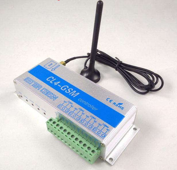 Bộ điều khiển bằng SIM GPRS SMS 4 Kênh CL4-GSM