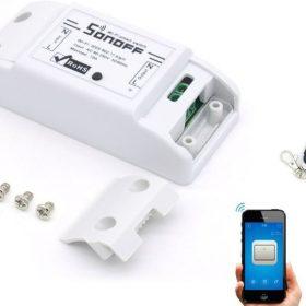 Bộ điều khiển bật tắt thiết bị điện qua Wifi RF 433Mhz Sonoff Basic (không có tay cầm)
