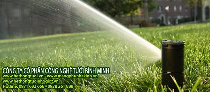 hệ thống tưới cây thông minh, hệ thống tưới cảnh quan, hệ thống tưới sân vườn, hệ thống tưới cây phun mưa