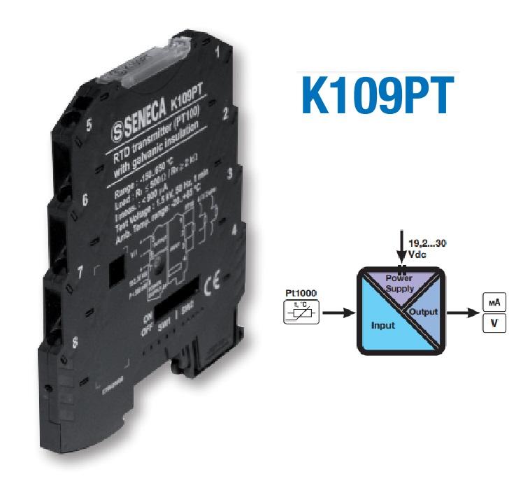 Bộ chuyển đổi tín hiệu nhiệt độ Pt100 K109PT