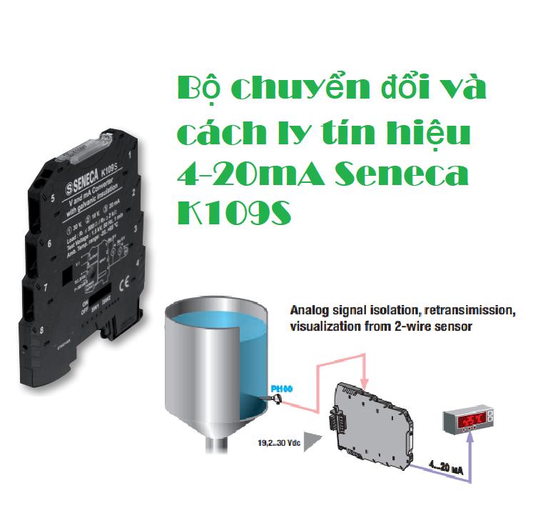 Bộ chuyển đổi và cách ly tín hiệu Seneca 4-20mA K109S