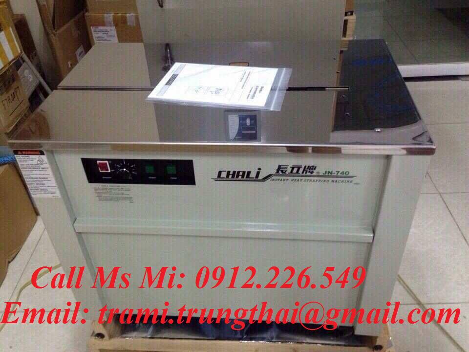 Máy đóng đai thùng bán tự động Chali JN740