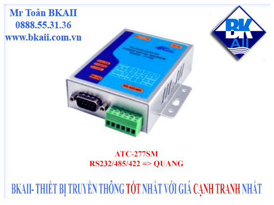 ATC-277SM: Bộ chuyển đổi RS232/485/422 sang quang