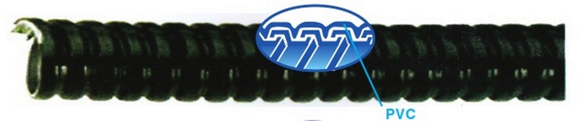 """Ống ruột gà lõi thép bọc nhựa PVC phi từ 1/2'' đến 1"""" , cuộn dài 50 m, Blue Eagle, ống luồn dây điện"""