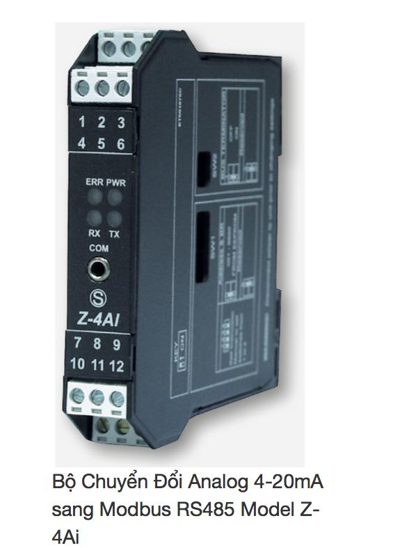 Bộ Chuyển Đổi Tín Hiệu 4-20mA ra Modbsus RS485