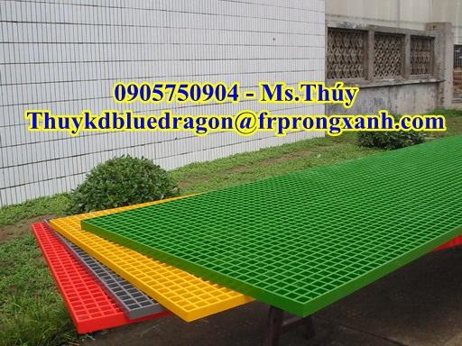 Tấm sàn lót frp grating kháng hóa chất