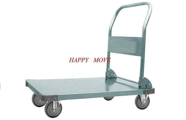 Xe đẩy hàng Inox 304 chống gỉ 100% gấp gọn Happy Move Tải trọng 300kg
