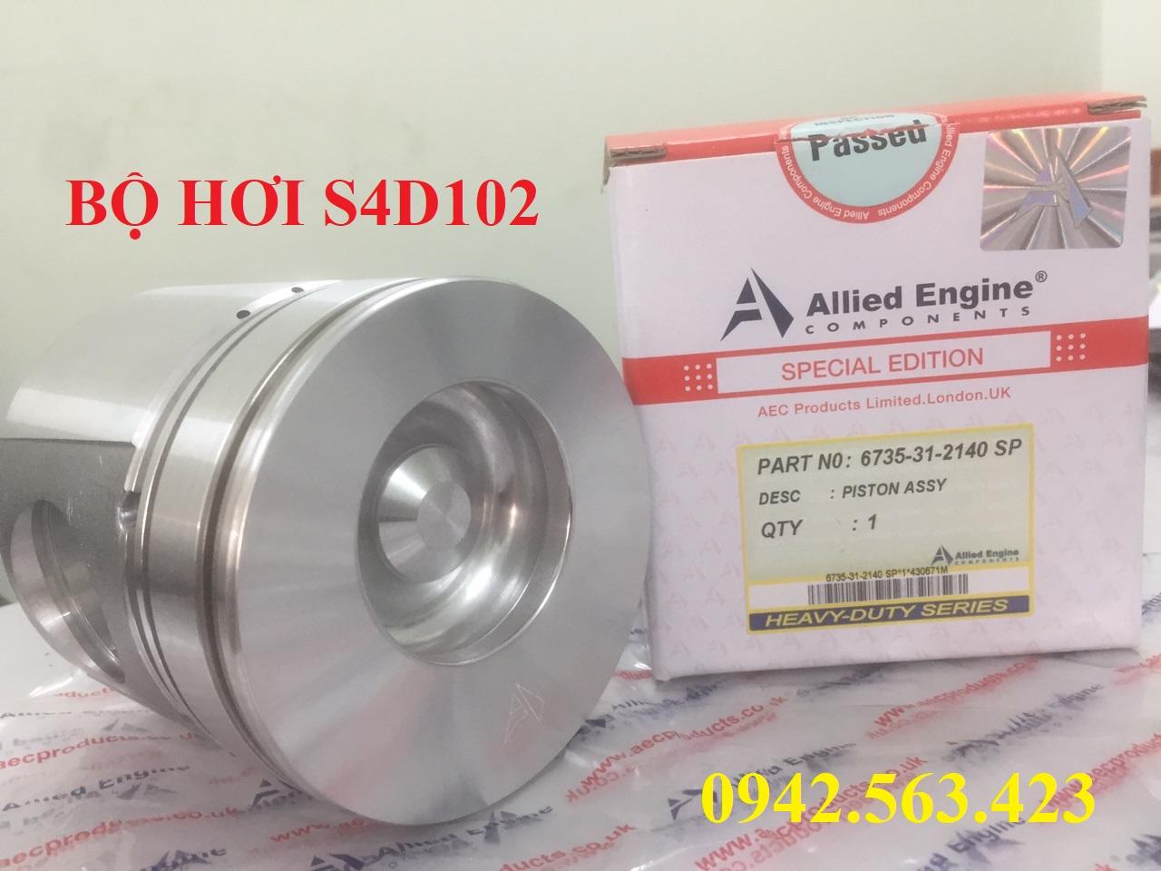 Bộ hơi S4D102 lắp PC150-6, WA250-3