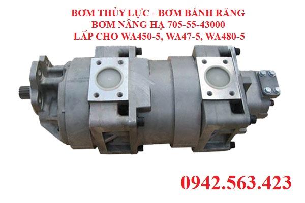 Bơm thủy lực komatsu lắp WA450-5, WA480-5