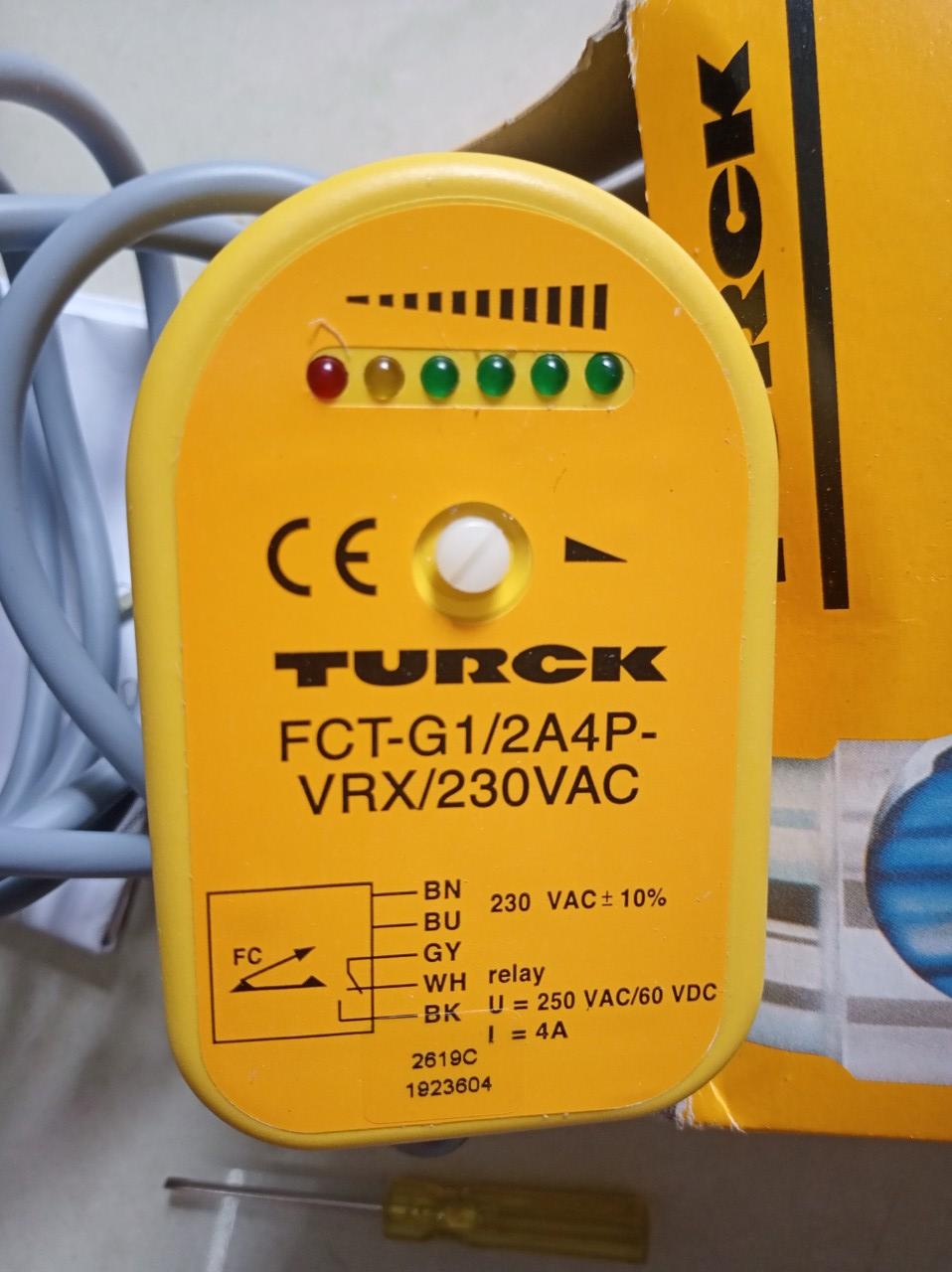 Cảm biến TURCK FCT-G1/2A4P-VRX/230VAC
