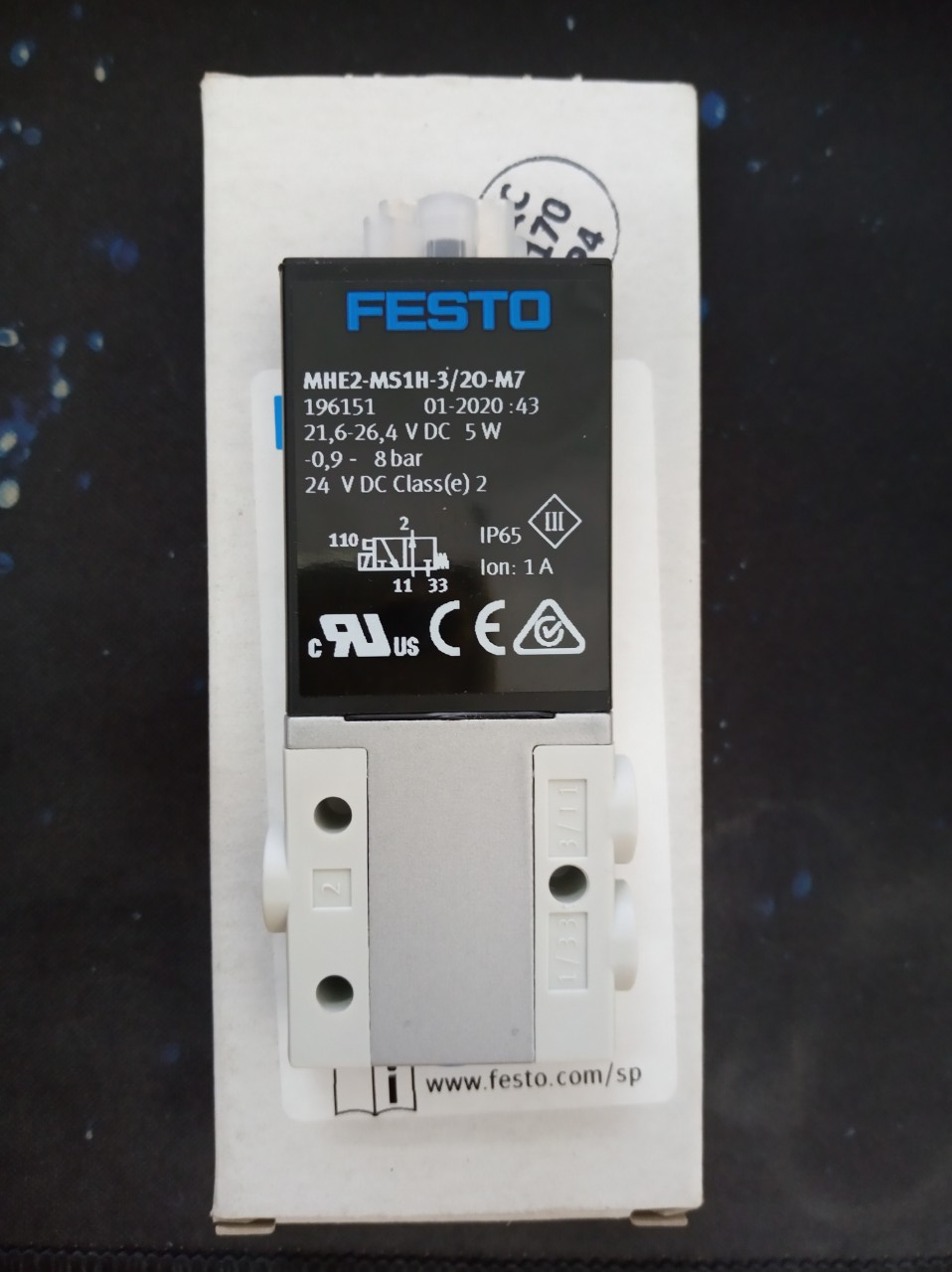 Van điện từ FESTO MHE2-MS1H-3/20-M7