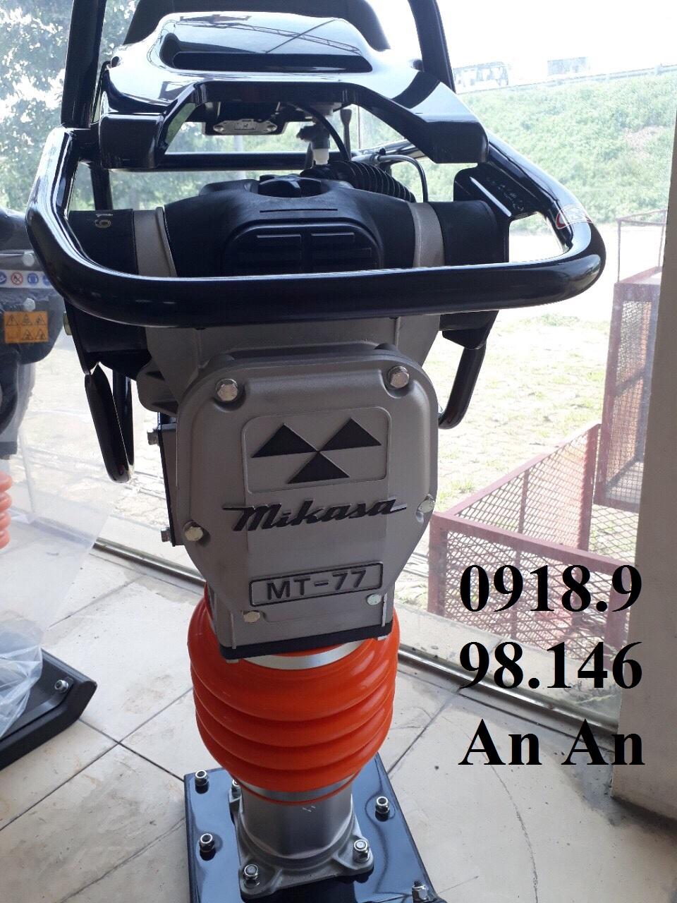 Siêu phẩm máy đầm cóc chạy xăng Mikasa MT77-80kg, động cơ Honda GXR120