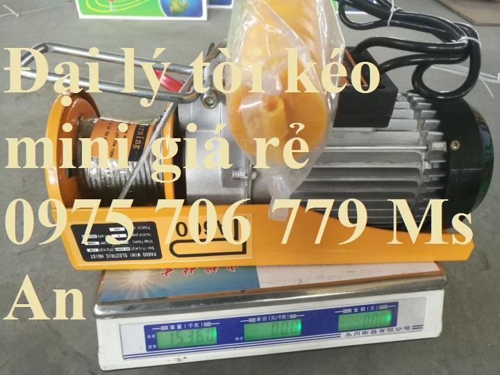 Tời kéo mini 1 phase 100kg 200kg 300kg 500kg 1000kg giá rẻ Hà Nội