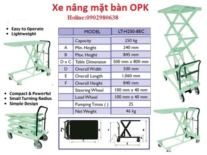 Xe nâng mặt bàn OPK
